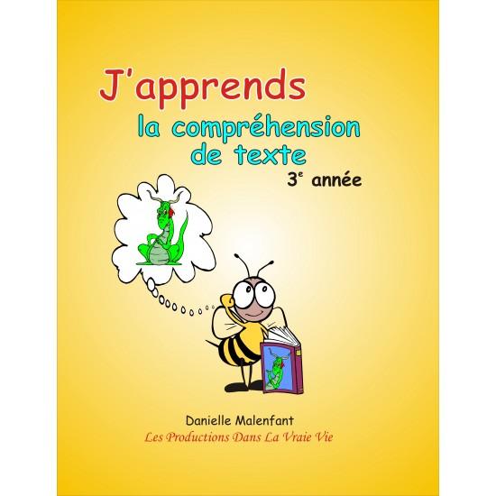 Matériel pédagogique - Compréhension de texte, 3e année, cahier de l'élève