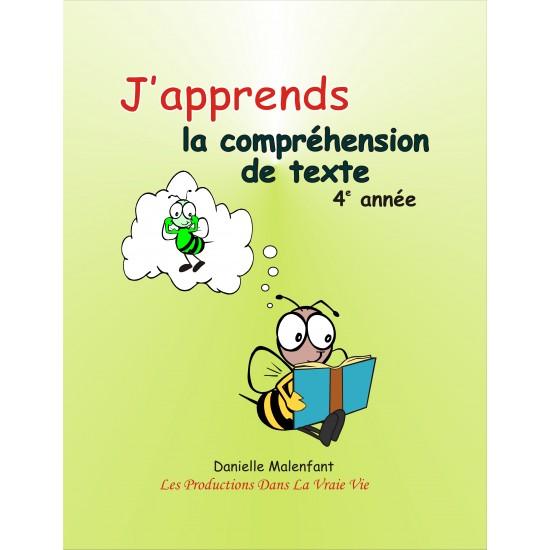 Matériel pédagogique - Compréhension de texte, 4e année, cahier de l'élève