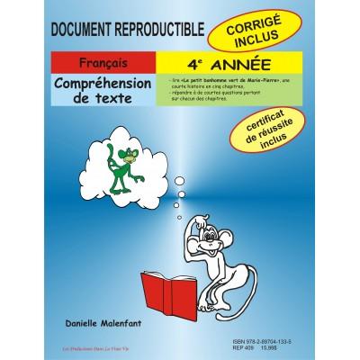 Matériel pédagogique - Compréhension de texte, 4e année, cahier reproductible