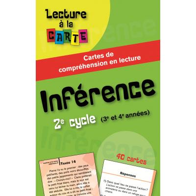 Jeu éducatif - Cartes de lecture - Inférence, 2e cycle (En vente chez l'éditeur seulement)