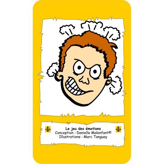 Jeu éducatif - Le jeu des émotions en français, avec personnage masculin