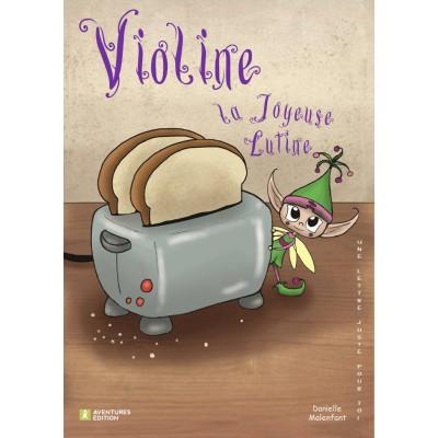 Roman-lettres pour filles - Violine, la joyeuse lutine - En vente chez l'éditeur seulement