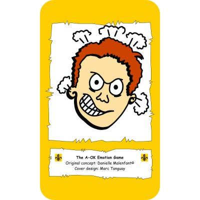 Jeu éducatif - Le jeu des émotions en anglais, avec personnage masculin